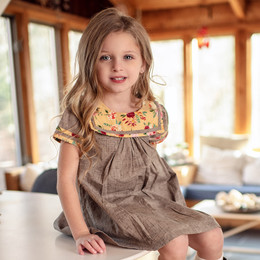 Mustard Pie Butterscotch 2pc Claire Dress & Hair Clip