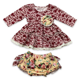Mustard Pie Butterscotch 2pc Lucy Dress & Bloomer Set