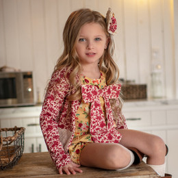Mustard Pie Butterscotch 2pc Gillian Romper & Hair Clip (*Jacket Sold Separately*)