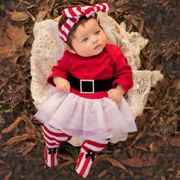 Haute Baby Ho Ho Ho Skirty Footie