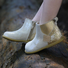 Livie & Luca Wink Booties - Gold Shimmer (Fall/Winter 2019)
