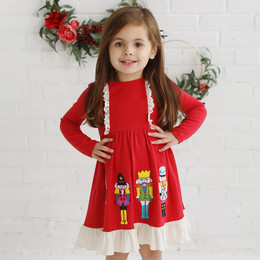 Lemon Loves Lime Holiday Nutcracker Dress - True Red