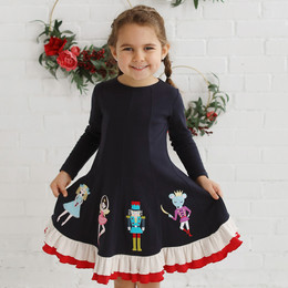 Lemon Loves Lime Holiday Nutcracker Dress - Sky Captain