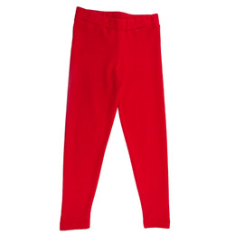 Lemon Loves Lime Holiday Basic Legging - True Red