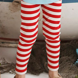 Lemon Loves Lime Holiday Striped Legging - True Red / Eggnog