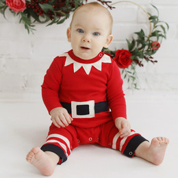 Lemon Loves Lime Holiday Layette Mr Elf Romper
