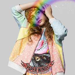 Paper Wings   Oversized Zip Jacket - Sparkle