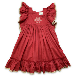 Little Prim   Winter Wonderland Maya Dress - Holly