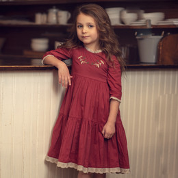 Little Prim   Winter Wonderland Ashton Dress - Holly