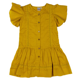 Yo Baby Drop Waist S/S Dress - Mustard