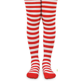 Jefferies Socks Stripe Tights - Red/White