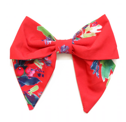 Be Girl Clothing   Holiday Classic Bow - Red Holly