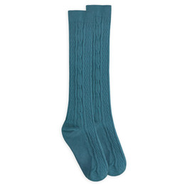 Jefferies Socks Classic Cable Knee High Socks - Surf