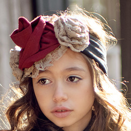 Mustard Pie Snowfall Flora Headband - Black