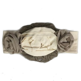 Mustard Pie Snowfall Flora Headband - Cream