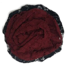 Mustard Pie Snowfall  Ella Hair Clip - Black Holly