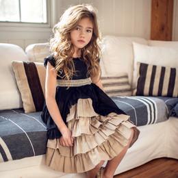 Mustard Pie    Snowfall  2pc Annabel Dress & Hair Clip - Black