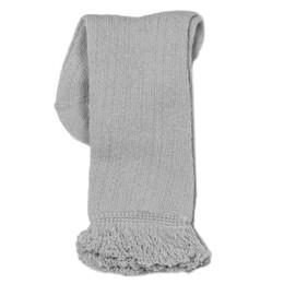 Evie's Closet Pointelle Ruffle Knee High Socks - Gray