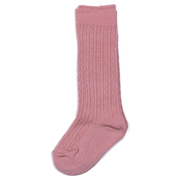 Evie's Closet Quilted Knee High Socks - Pink