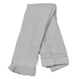 Evie's Closet Pointelle Footless Tights - Gray