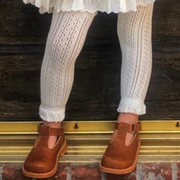 Evie's Closet Pointelle Footless Tights - Ivory