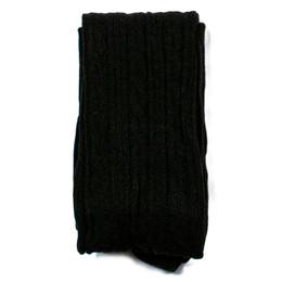 Evie's Closet Combed Cotton Footed Tights - Black