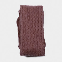 Evie's Closet Combed Cotton Footed Tights - Plum