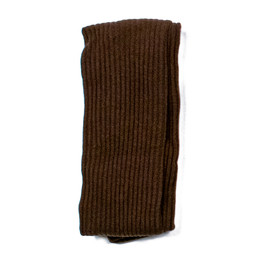 Evie's Closet Ribbed Footed Tights - Brown