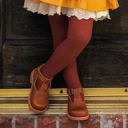 Evie's Closet Ribbed Footed Tights - Pumpkin Spice