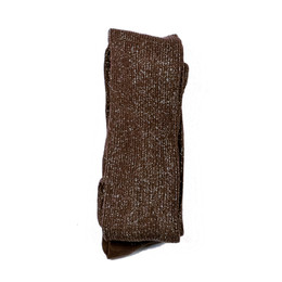 Evie's Closet Sparkle Footed Ribbed Tights - Brown