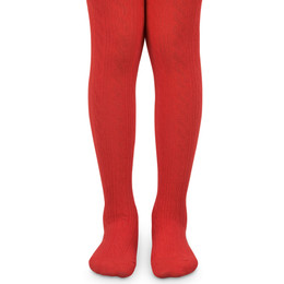 Jefferies Socks Classic Cable Tights - Red