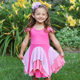 Lemon Loves Lime  Hybiscus Dress - Fandango Pink
