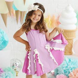 Lemon Loves Lime  Easy Twirl Dress - Violet Tulle / Radiant Orchard