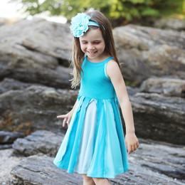 Lemon Loves Lime  Ocean and Sky Dress - Capri Breeze
