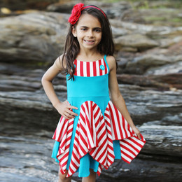 Lemon Loves Lime  Sassy Sailor Dress - Capri Breeze / True Red