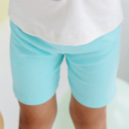 Lemon Loves Lime  Perfect Bike Shorts - Aruba Blue