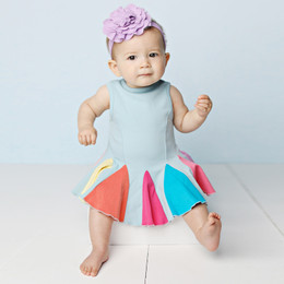 Lemon Loves Lime  Carnival Swing Dress Set - Sterline Blue