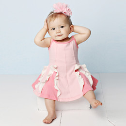 Lemon Loves Lime  Easy Twirl Dress Set - Rose Shadow / Straw Pink