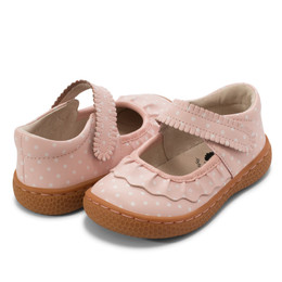 Livie & Luca Ruche Shoes - Pink Polka Dot