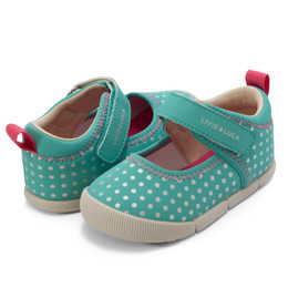 Livie & Luca Versy Shoes - Aqua Polka Dot