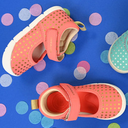 Livie & Luca  Versy Shoes - Coral Polka Dot (Spring 2020)