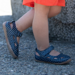 Livie & Luca  Moon Shoes - Navy Polka Dot (Spring 2020)