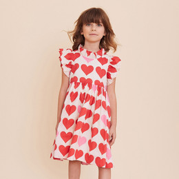 Pink Chicken Jennifer Dress - Valentine Hearts