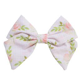 Be Girl Clothing  Classic Bow - White Floral