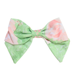 Be Girl Clothing  Classic Bow - Green Floral