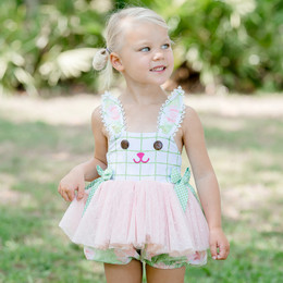 Be Girl Clothing  Meadow Skirted Bubble Romper