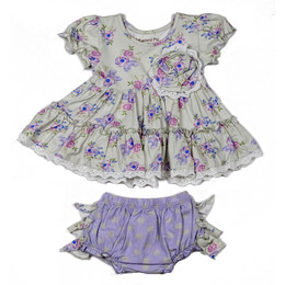 Mustard Pie   Lilac Field 2pc Lucy Dress & Bloomer