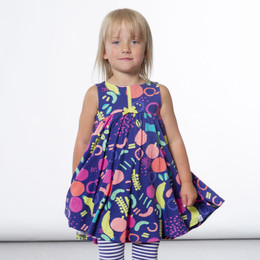 Deux Par Deux  Going Bananas Print Dress - Purple