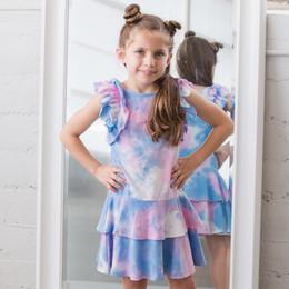 Isobella & Chloe Sunny Smile Knit Dress - Rainbow Tie Dye