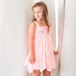 Isobella & Chloe Flora Dance Rosette Knit Dress - Pink